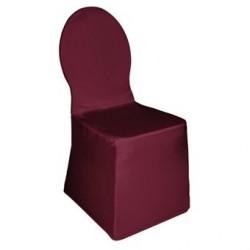 Housse de chaise de banquet en jersey bordeaux CA996