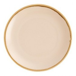 Assiette plate ronde couleur sable Olympia Kiln 280mm GP462