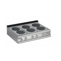 Plaque de cuisson 6 plaques électriques Gamme 700 Baron 70PCE120
