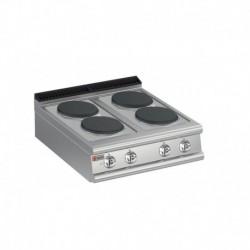 Plaque de cuisson 4 plaques électriques gamme 700 Baron 70PCE800
