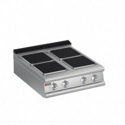 Plaque de cuisson 4 plaques carrées électriques gamme 700 Baron 70PCE801