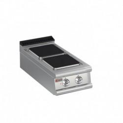 Plaque de cuisson 2 plaques carrées électriques Gamme 700 Baron 70PCE401