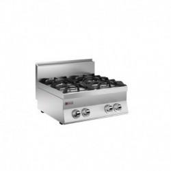 Plaque de cuisson Top 4 feux vifs gaz Gamme 650 Baron 60PCG722