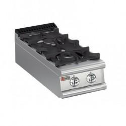 Plaque de cuisson Top 2 feux vifs gaz Gamme 900 Baron 90PCG400
