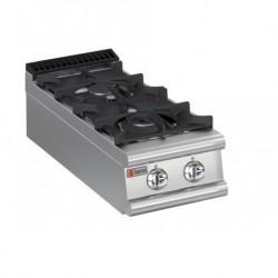 Plaque de cuisson top 2 feux vifs gaz gamme 700 Baron 70PCG401