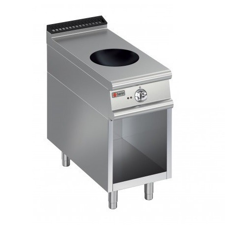 Plaque de cuisson Induction Wok 1 zone sur placard ouvert Gamme 700 Baron 70PCVWOK400