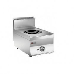 Plaque de cuisson induction wok 1 zone gamme 650 Baron 60PCWOK411