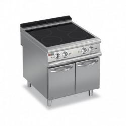Plaque de cuisson induction 4 zones sur placard neutre gamme 700 Baron 70PCVIND800