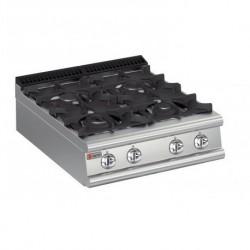 Plaque de cuisson top 4 feux vifs gaz gamme 700 Baron 70PCG801