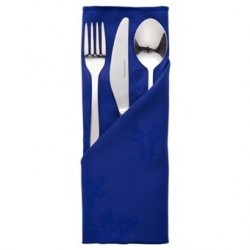 Serviette bleu roi motif rose Roslin CE621