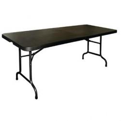 Table pliable au centre Bolero noire 1829mm CB518