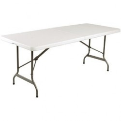 Table pliable au centre Bolero blanche 1829mm L001