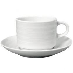Tasse à thé empilable avec soucoupe Intenzzo White 260ml GR025