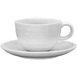 Tasse à thé avec soucoupe Intenzzo White 260ml GR030