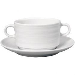 Tasse à consommé et soucoupe Intenzzo White 330ml GR020