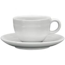 Tasse à café espresso empilable avec soucoupe Intenzzo White 110ml GR031