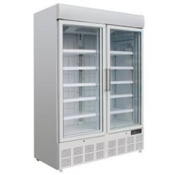 Vitrine réfrigérée négative deux portes avec bandeau lumineux Polar 920L GH507
