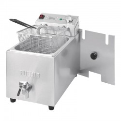 Friteuse simple Buffalo - 1 x 8L 6kW avec minuterie - FC376