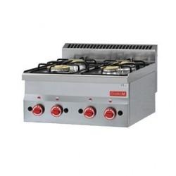 Dessus 4 feux vifs gaz à poser Gastro M 60 60PCG GL901