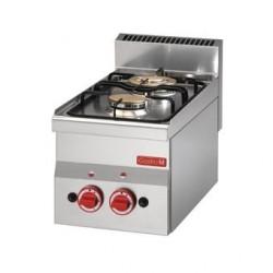 Dessus 2 feux vifs gaz à poser Gastro M 60 30PCG GL900
