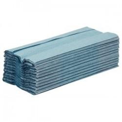 Essuie mains bleu pli en C bleu simple épaisseur Jantex GD832