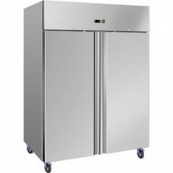 Armoire réfrigérée inox 2 portes positive 1400L