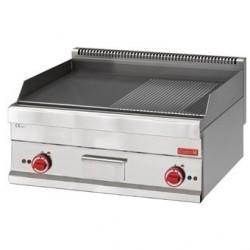 Fry top électrique Gastro M 650 avec plaque demie lisse demie rainurée 65 70FTRE GN061